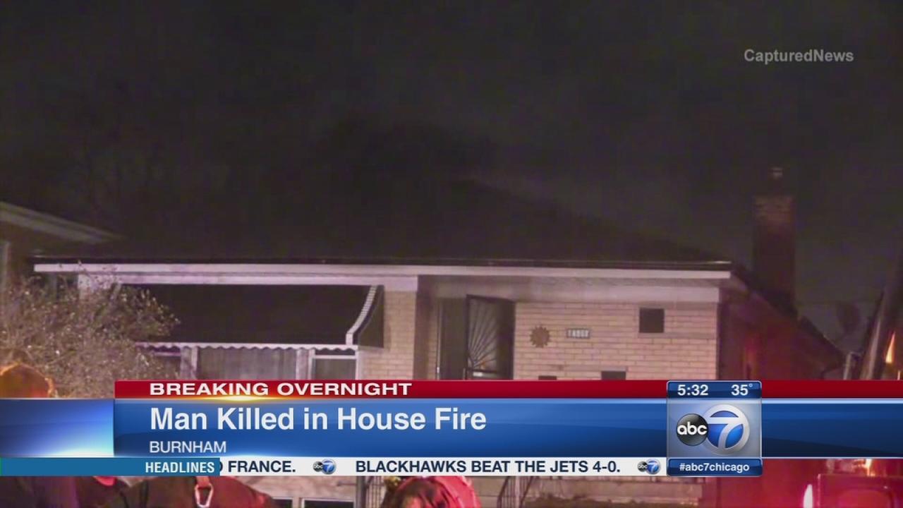 Fatal fire in Burnham