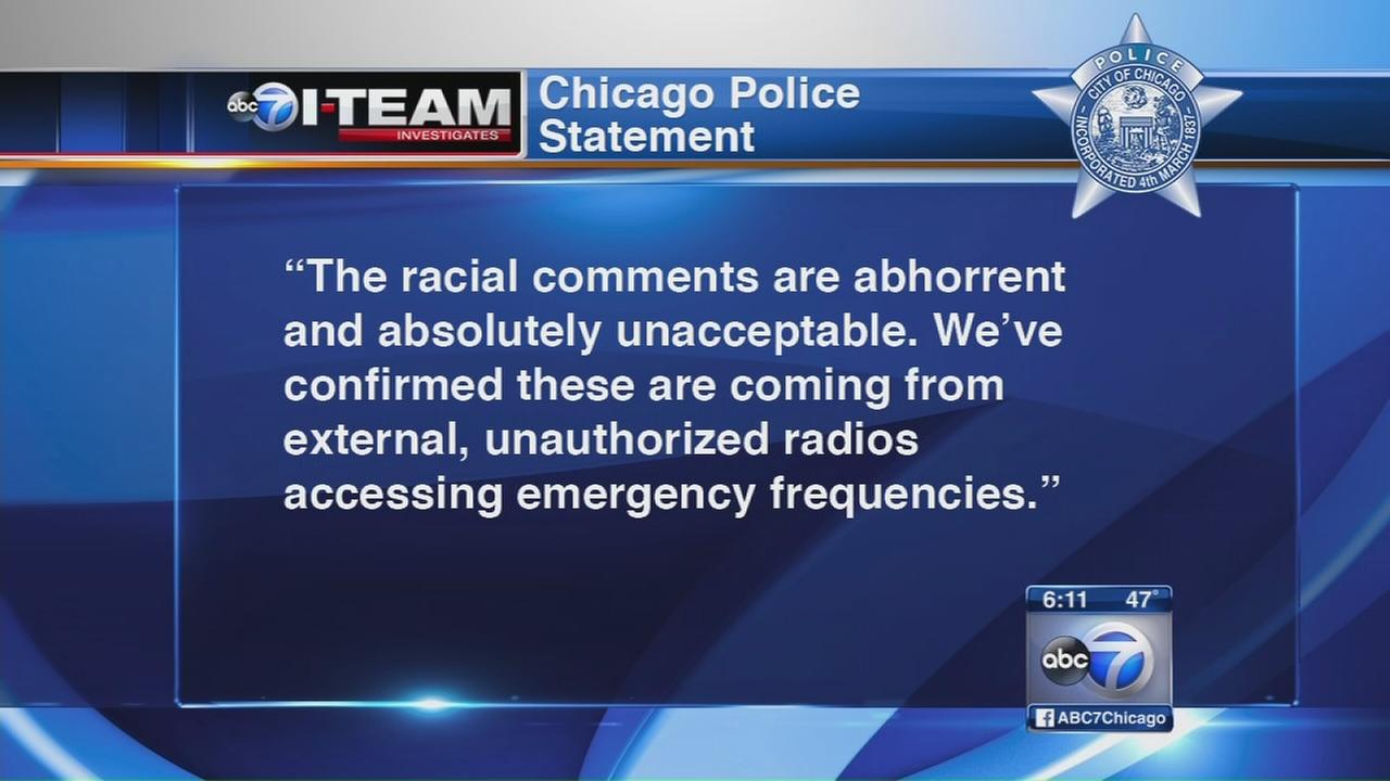 Racial slur on Chicago police radio