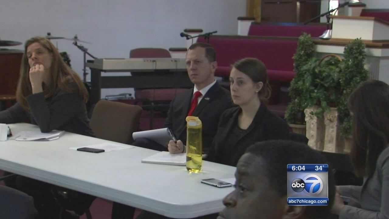 Retired officers meet with DOJ investigators