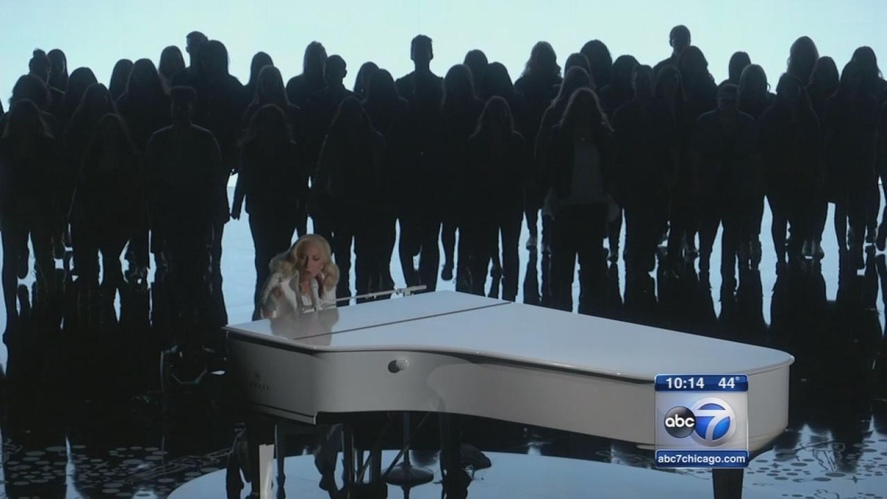 Lady Gaga leads powerful Chicago voices against sexual violence