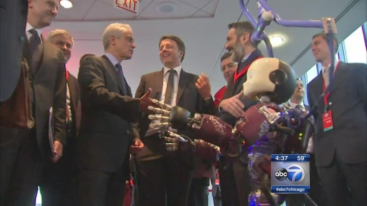 Italian Prime MInister visist Chicago