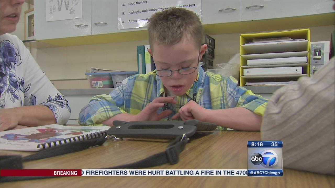 Teachers and technology give special needs child a voice
