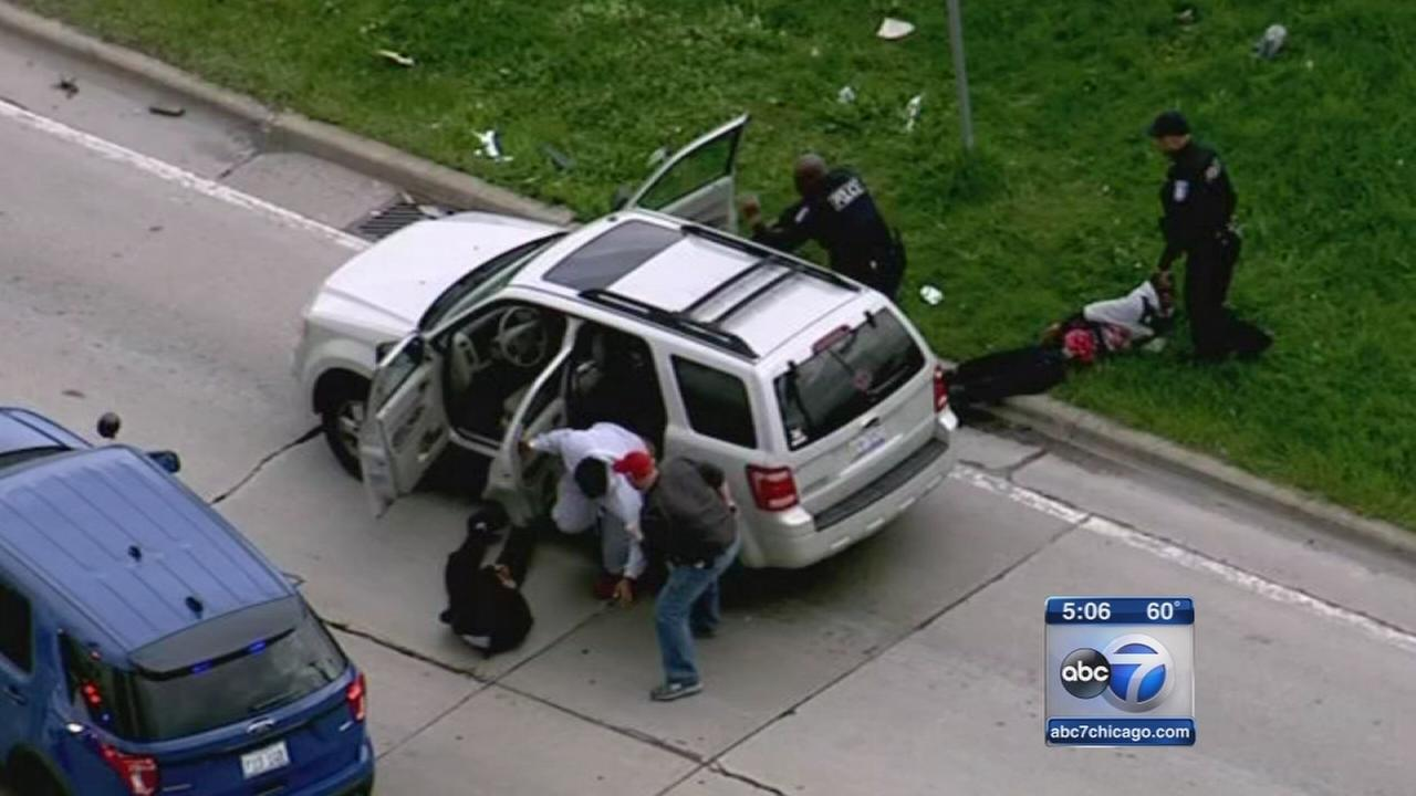 Stolen car used in police chase