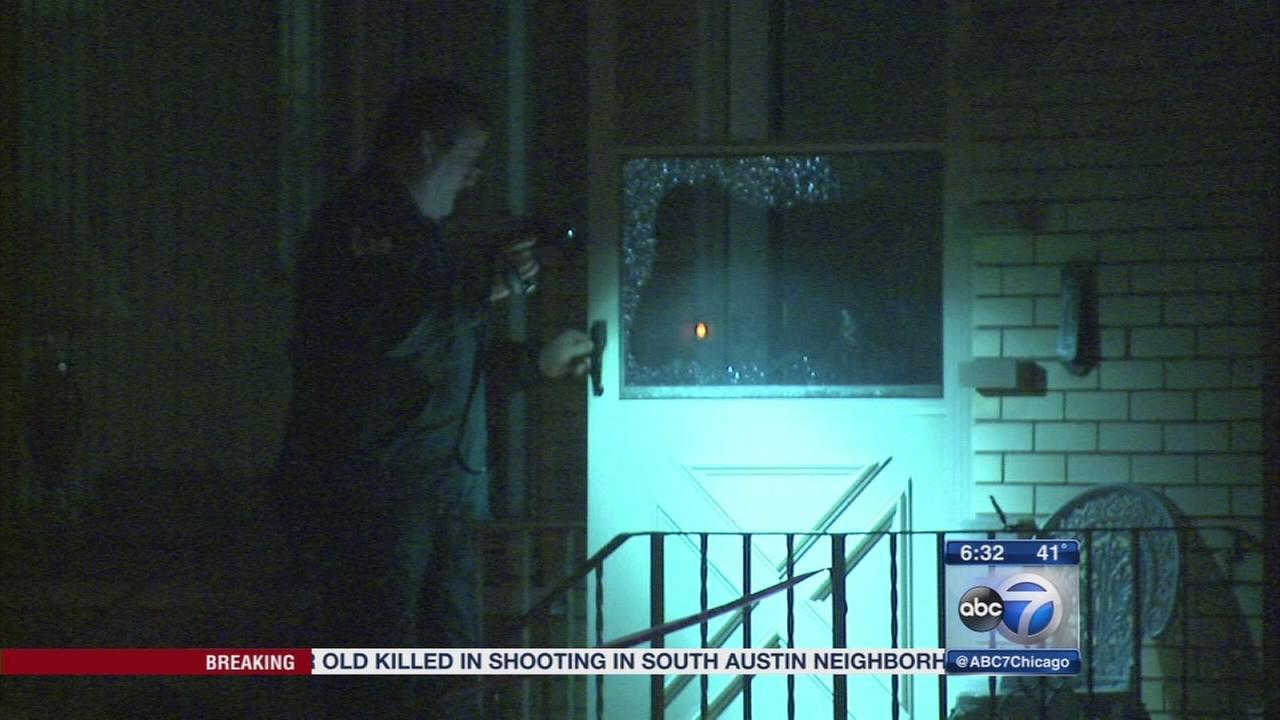 Man shot while eating dinner