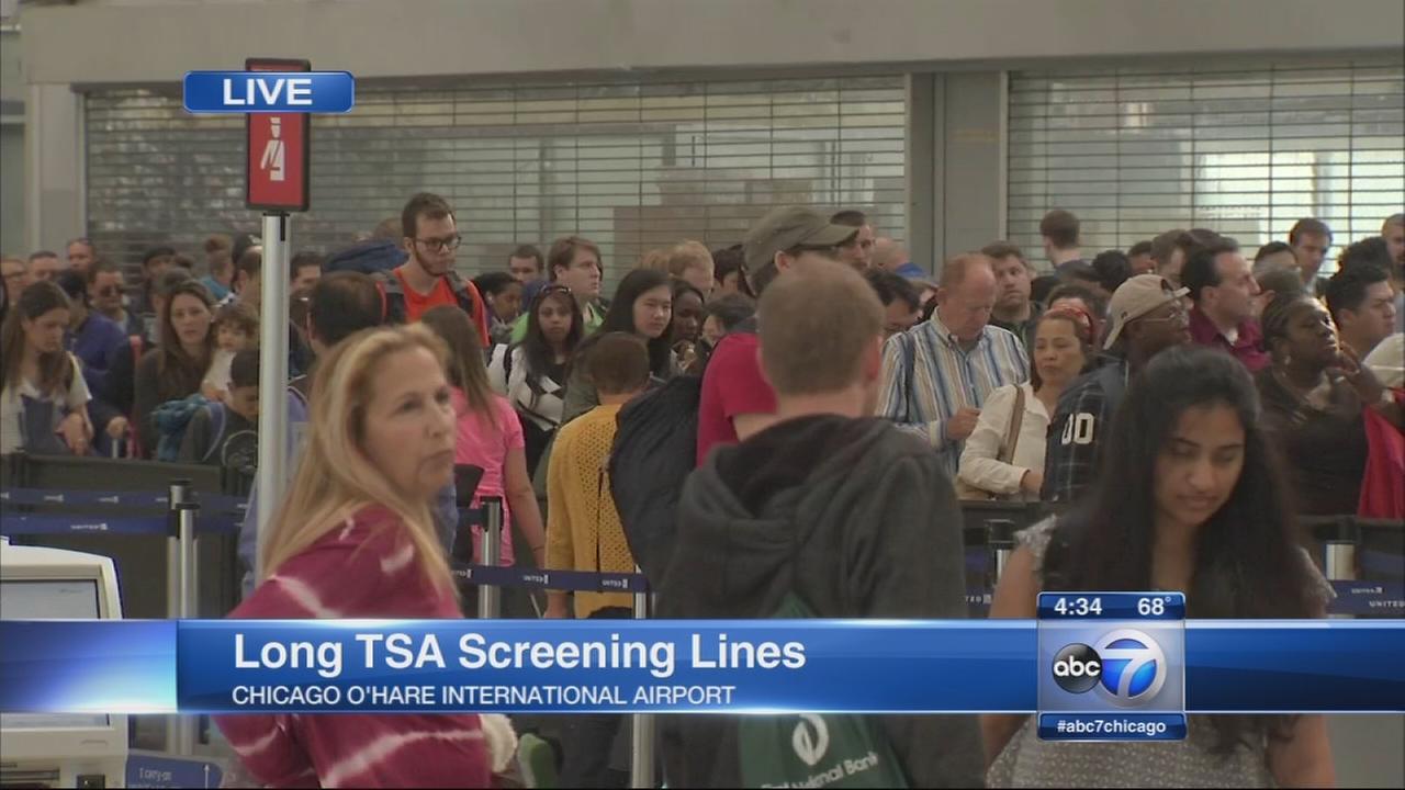 Long TSA screening lines
