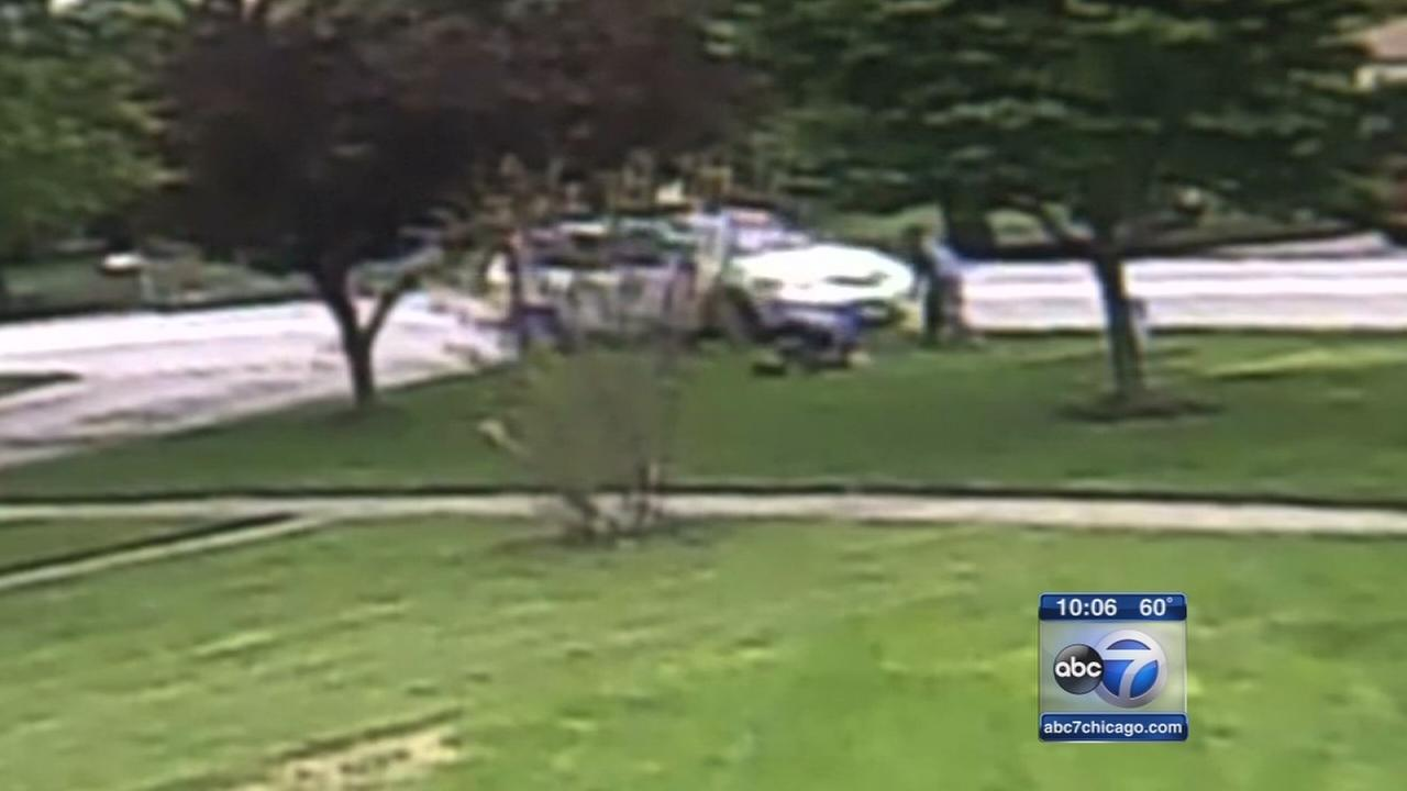 Hit-and-run driver strikes man mowing lawn