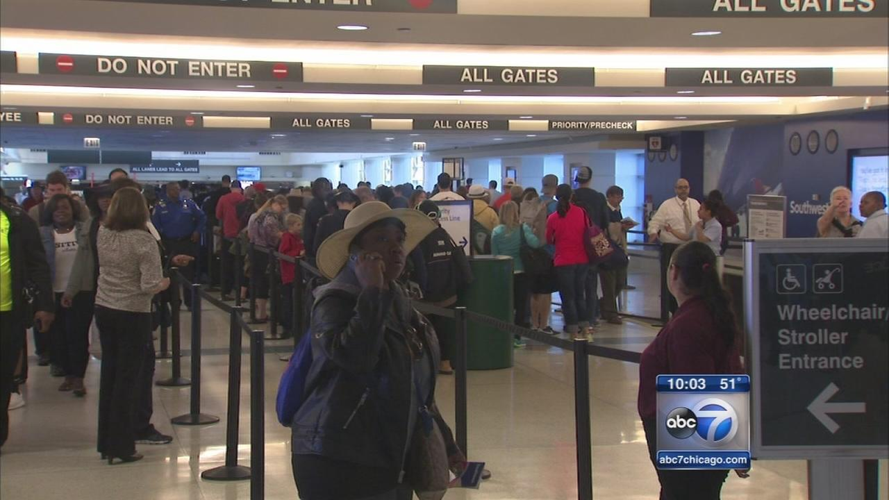 Extra screeners assigned to Chicago airports