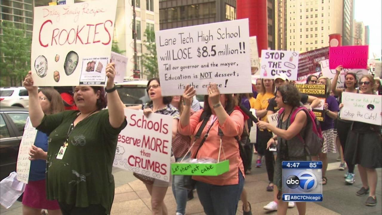 CPS parents protest massive budget cuts
