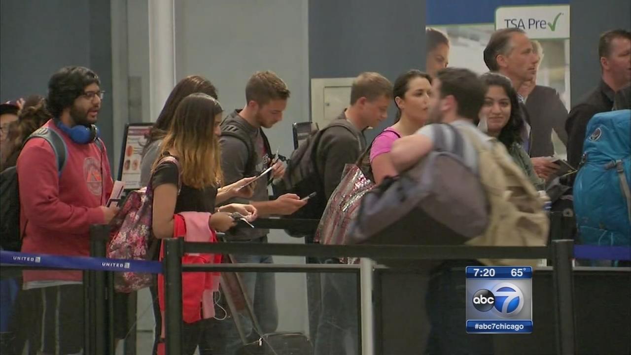 TSA lines are falling