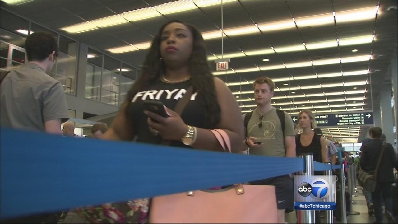 TSA lines long but moving at OHare