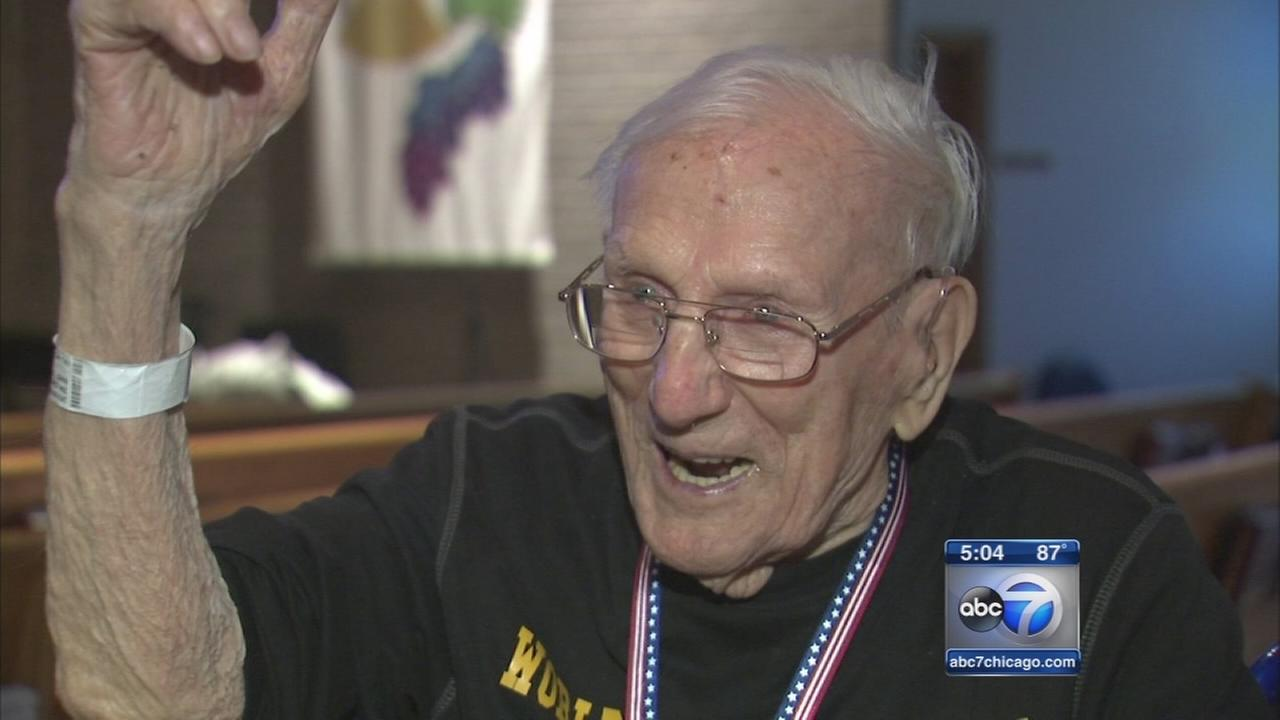 104-year-old Schaumburg veteran honored