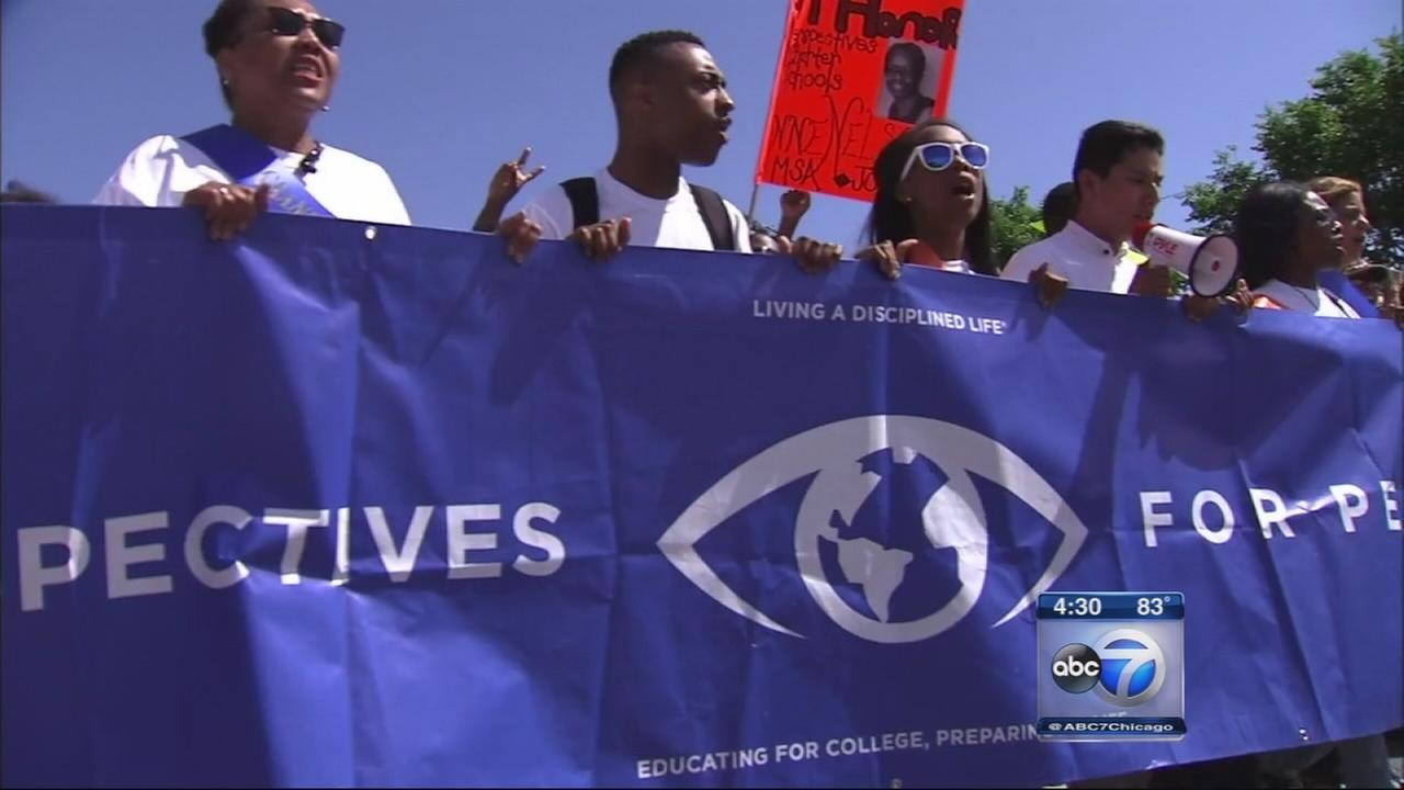 Students march for peace in Bronzeville