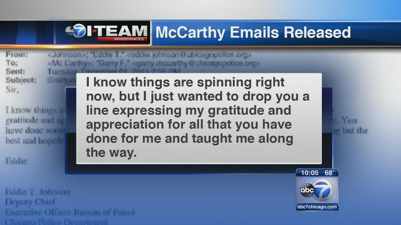 McCarthy emails released