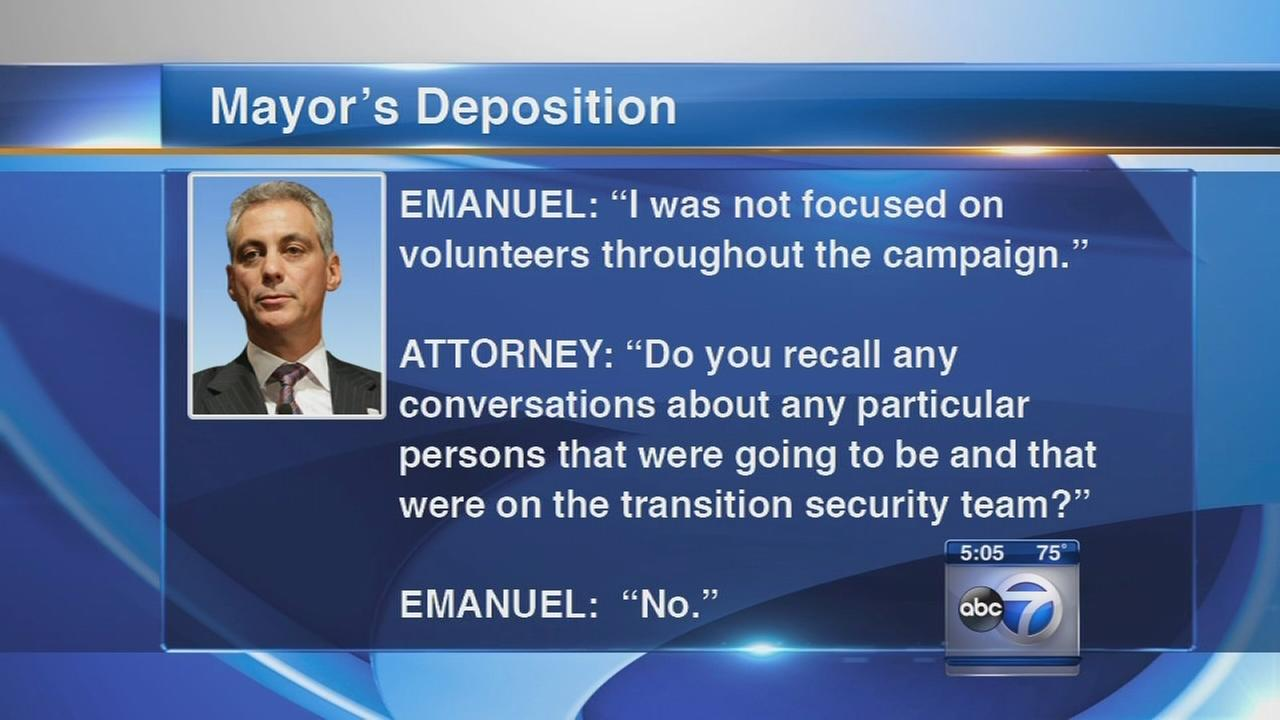 Mayor Emanuel deposed in lawsuit case