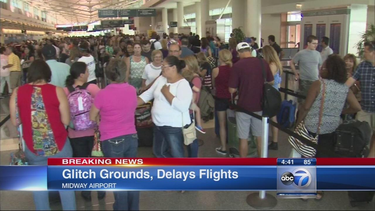 Southwest Airlines delayed due to glitch
