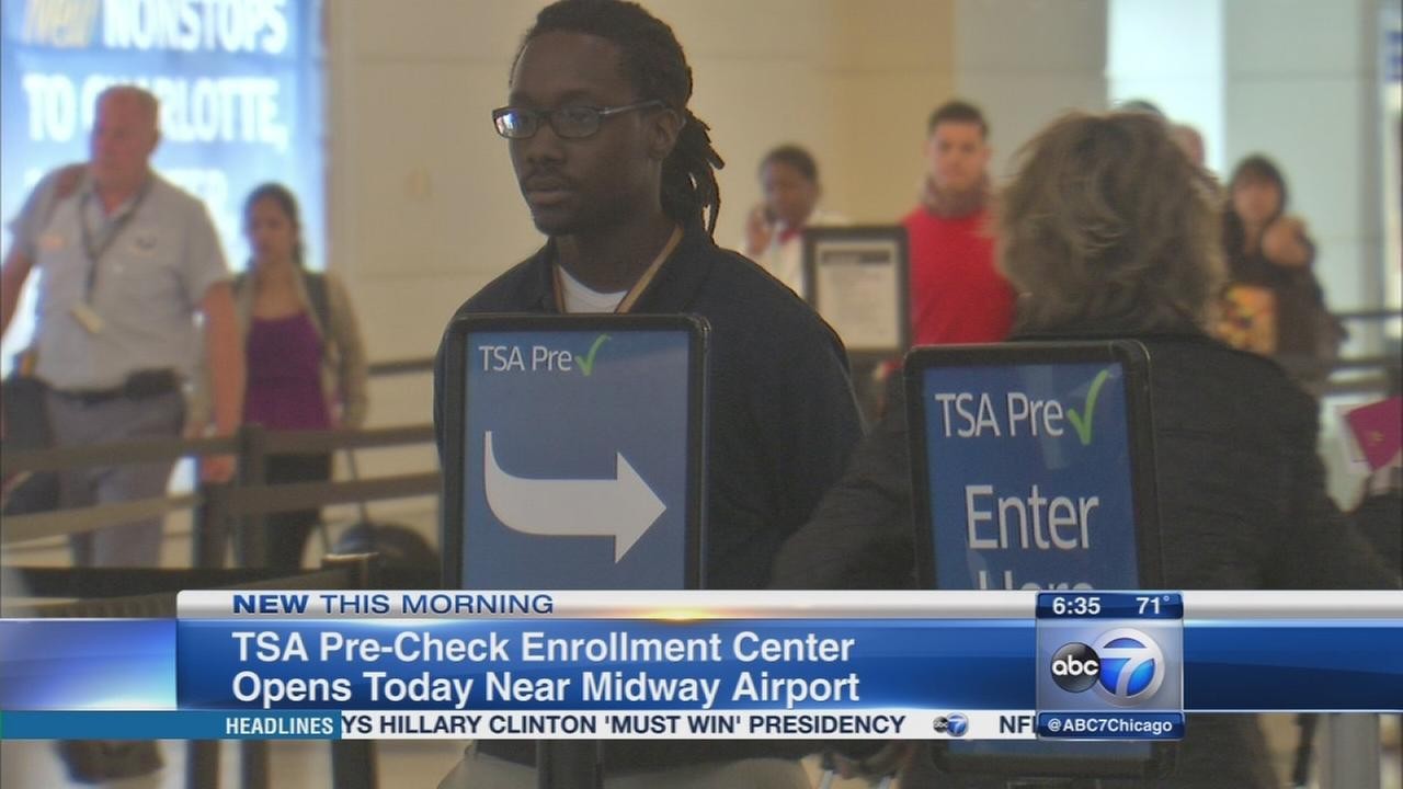 TSA pre check center opens Tuesday