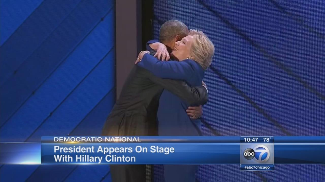 President Obama delivers DNC keynote, Hillary Clinton makes apperance