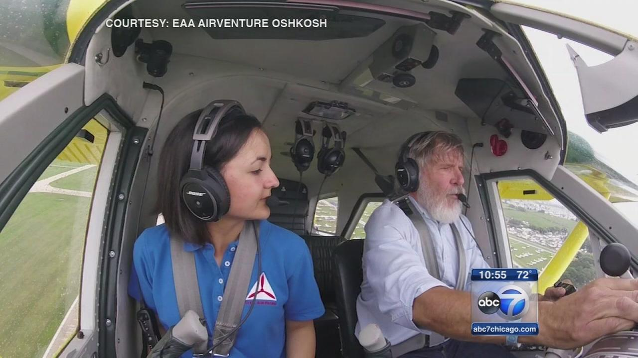 Westchester teen takes flight with Harrison Ford