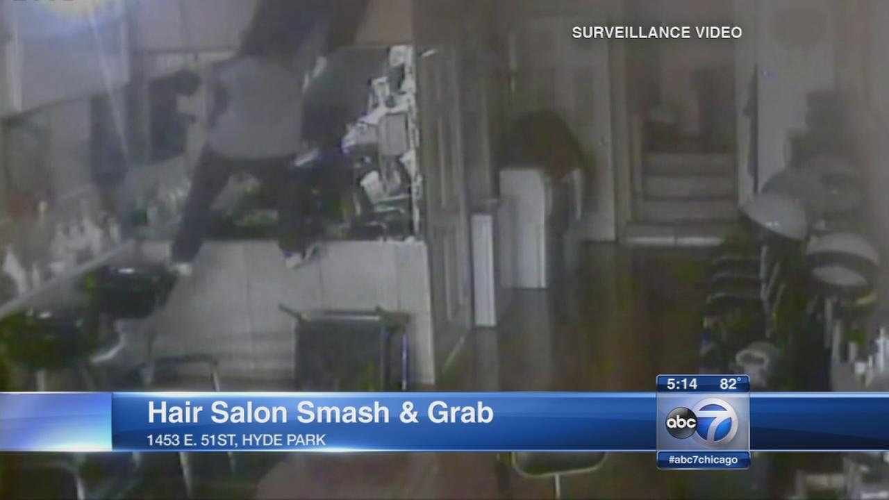 Video Shows Break In At Hyde Park Hair Salon Abc7chicago