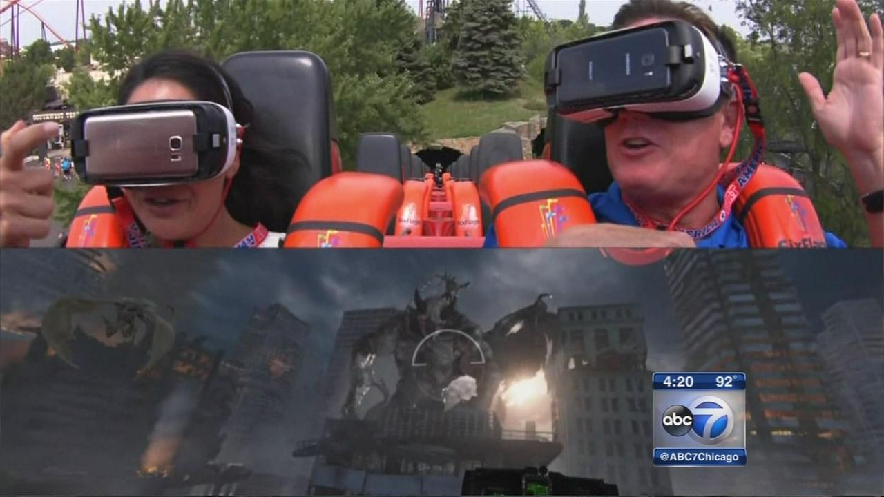 Demon coaster launches virtual reality game