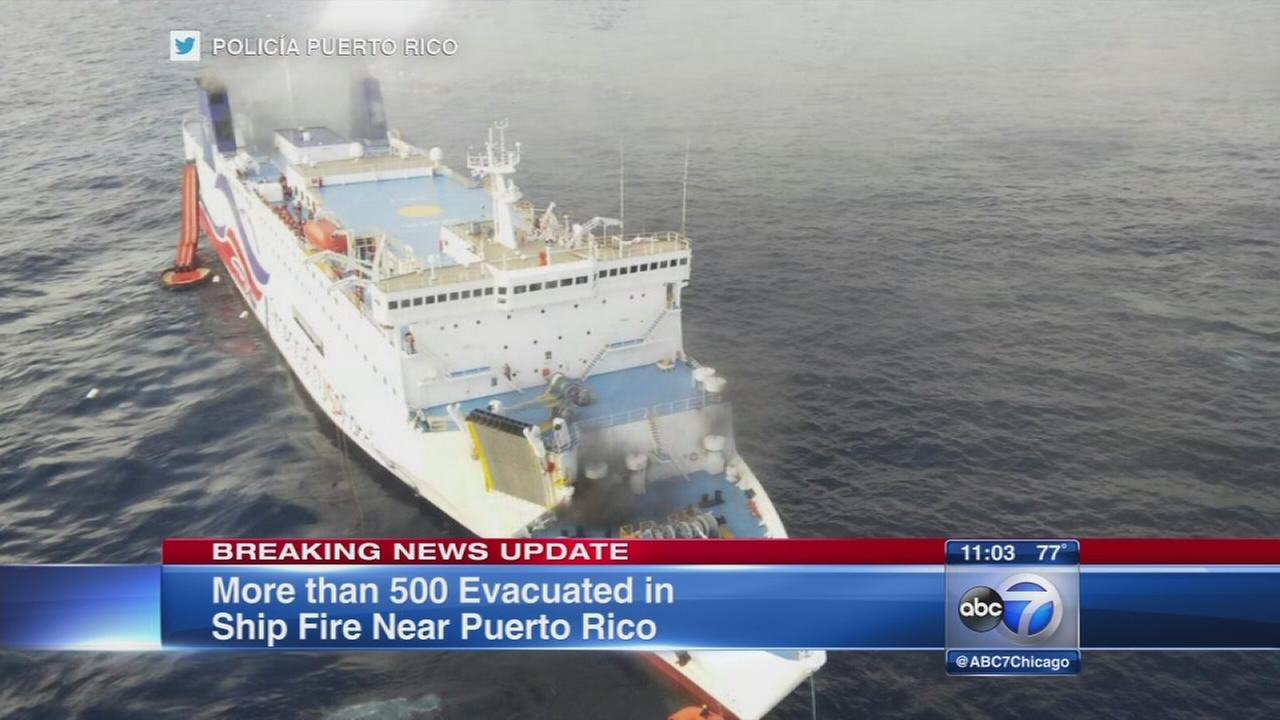Ferry fire forces hundreds to evacuate