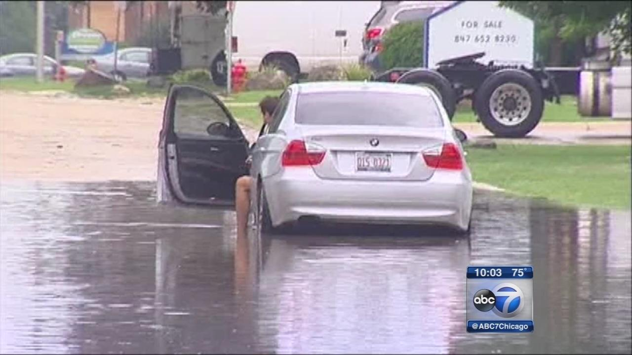 Storms cause flash floods in suburbs