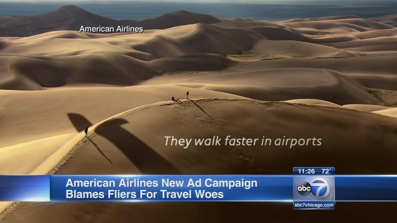 American Airlines ad blames fliers for travel woes