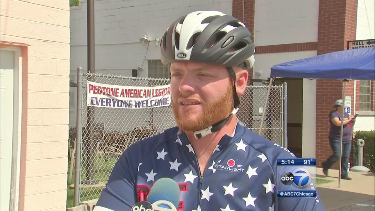 Veteran sets off on 1,000-mile bike ride