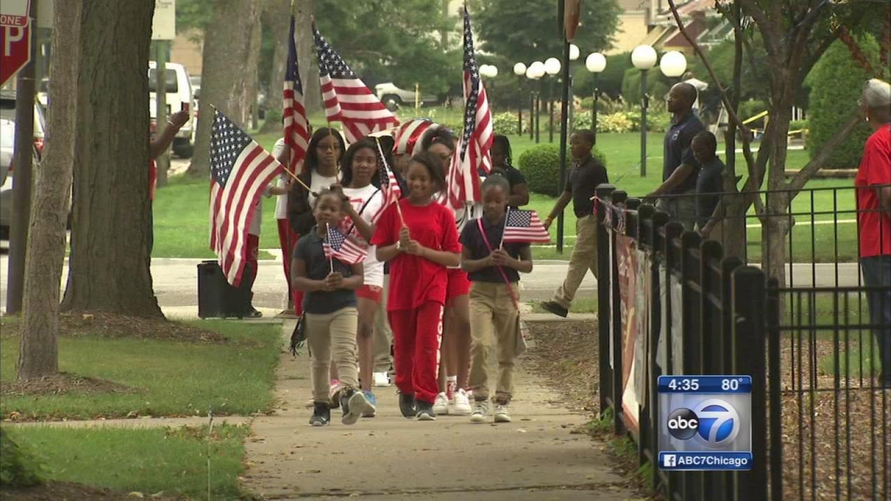 Elementary students mark 15th anniversary of 9/11