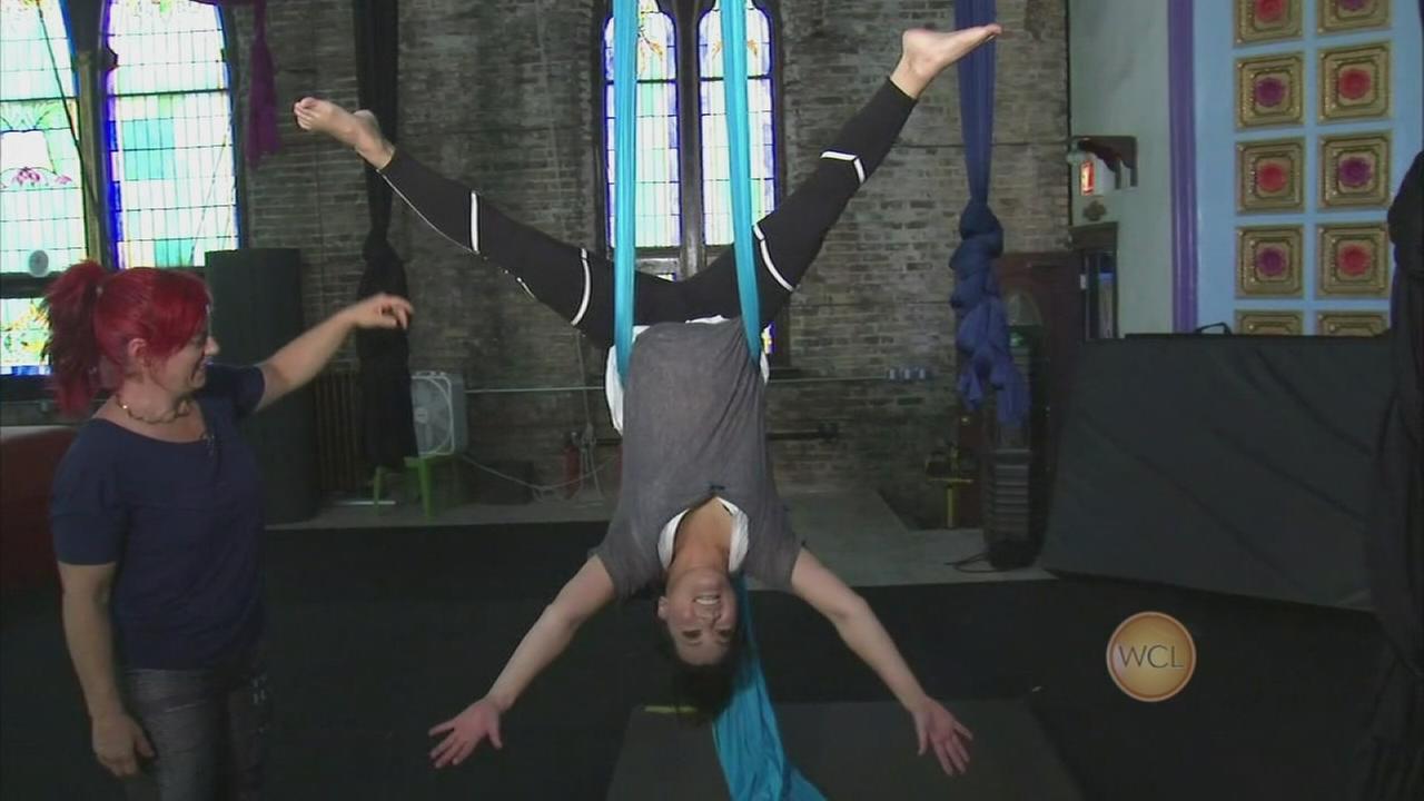 Ji trains at Aloft Circus Arts