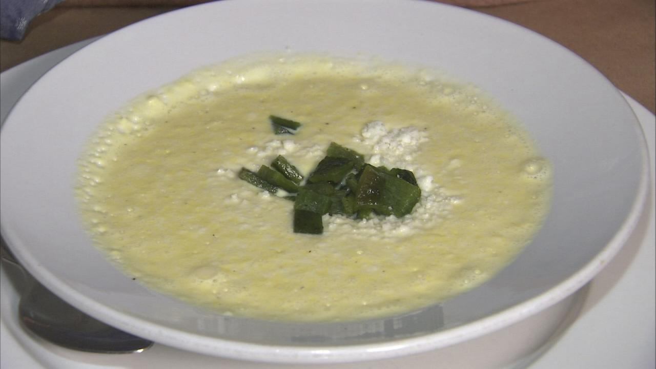 Extra Course: Corn soup Chiles en Nogada