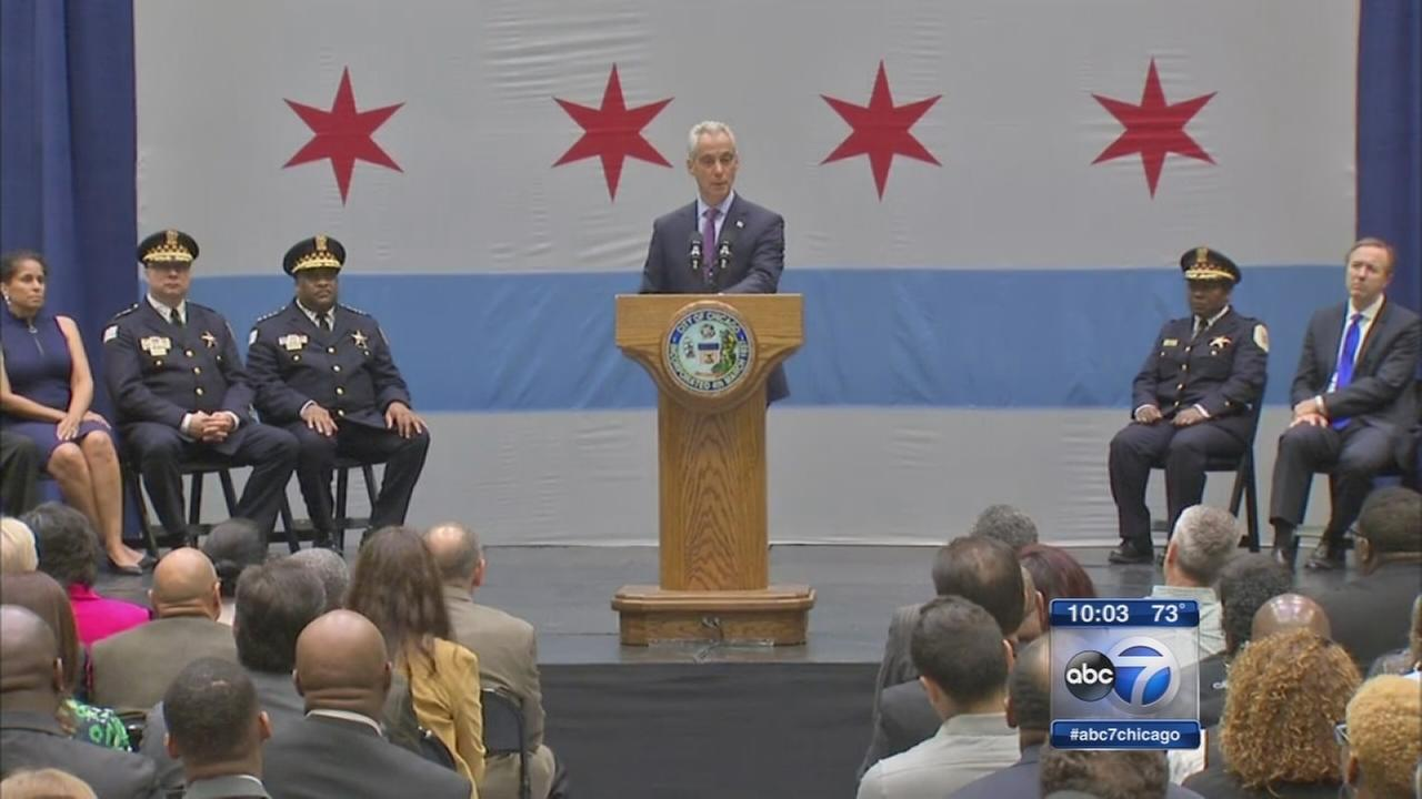 Mayor delivers speech on violence