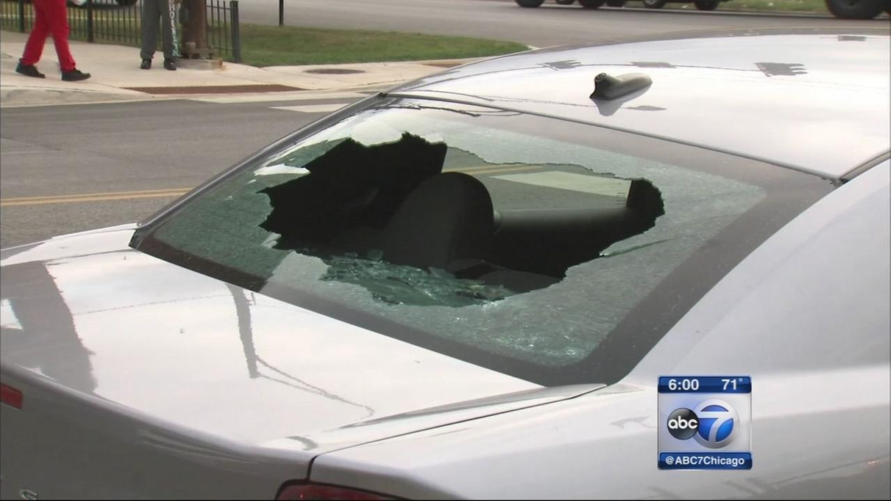 Bullet barely misses pregnant woman driving in Washignton Park
