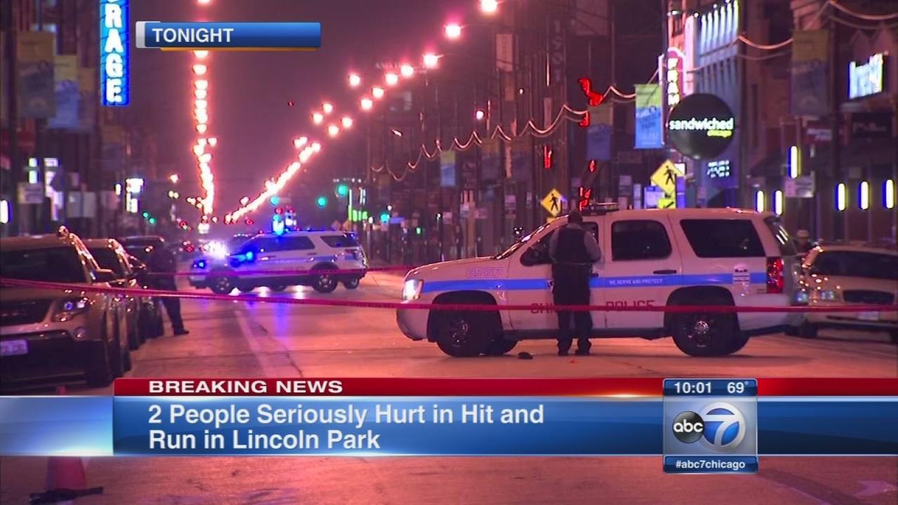 Pedestrians struck in Lincoln Park hit and run