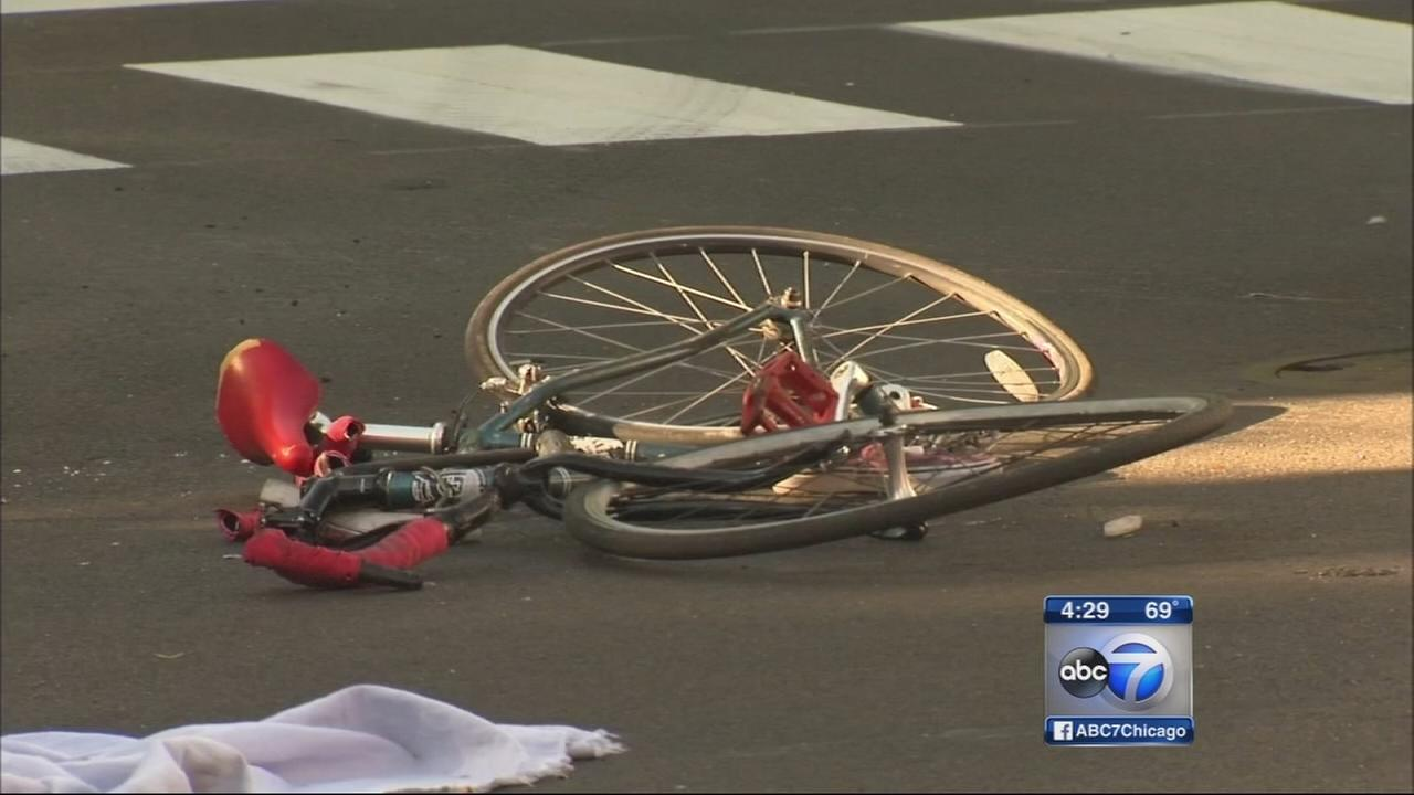 Bicyclist fatally hit by truck