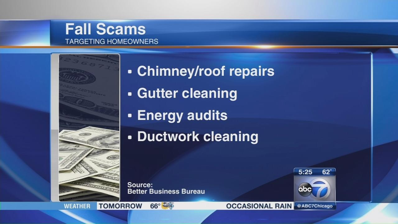 BBB warns against fall scams