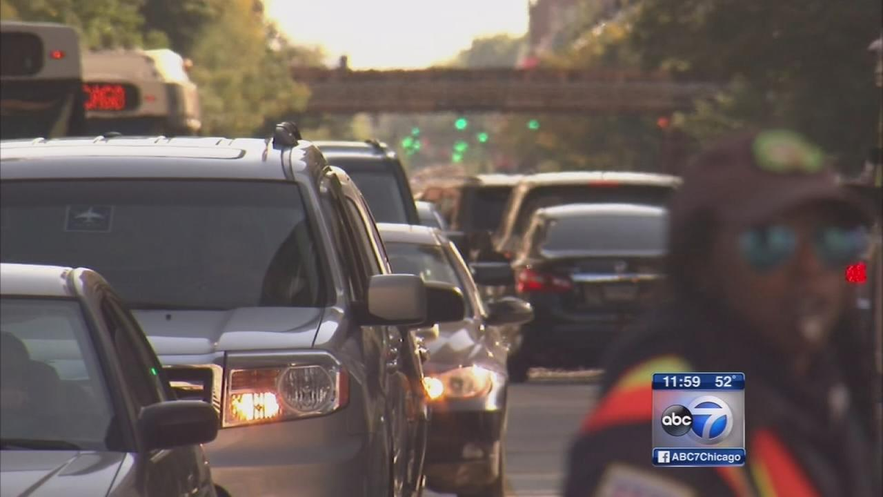 Busy weekend in Chicago causes traffic gridlock