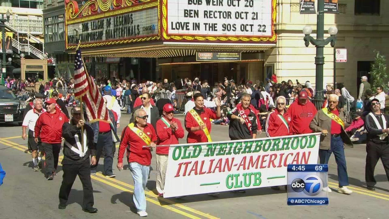 Columbus Day Parade marches down State Street