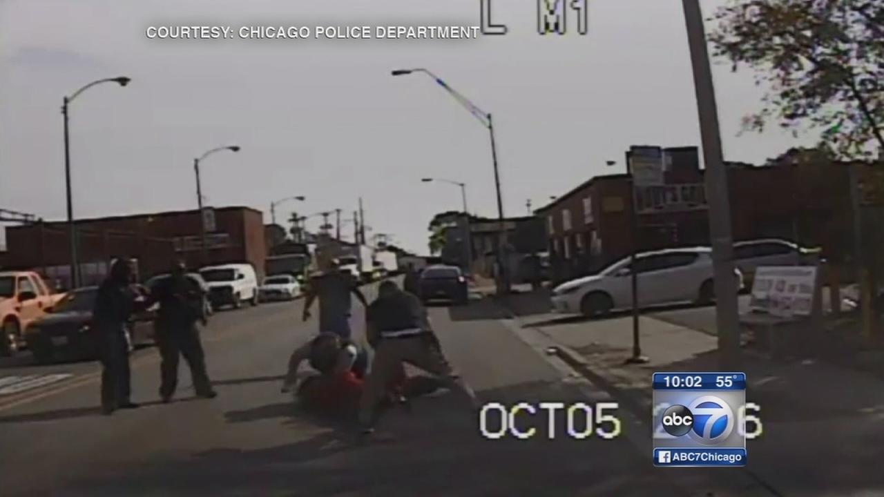 Police release video of cop beaten by suspect she feared shooting