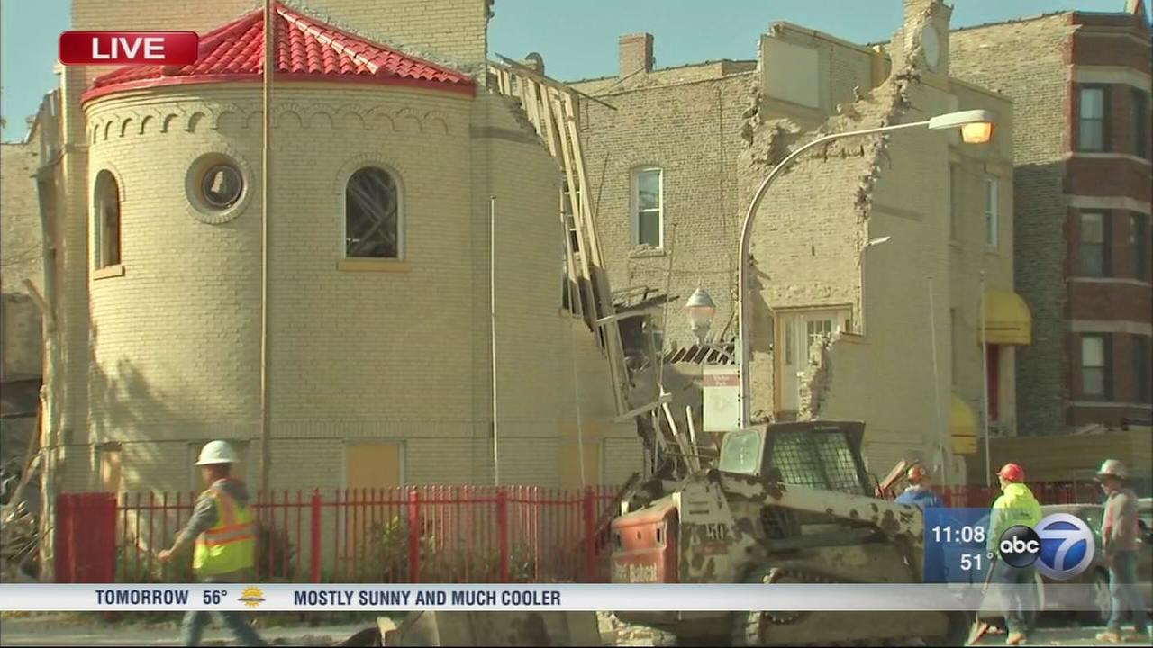 Church collapses in Wicker Park