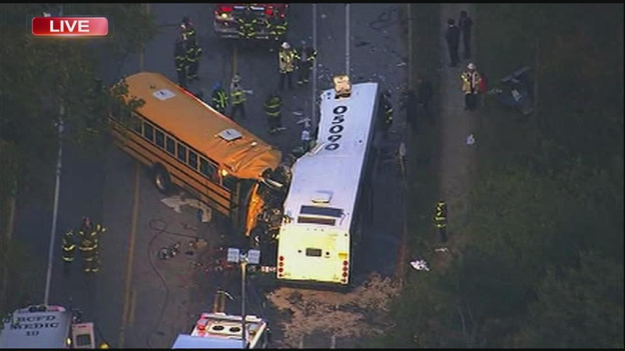 At least 3 dead in Baltimore bus crash