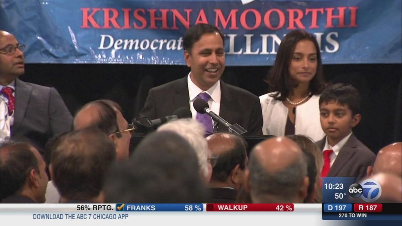 Raja Krishnamoorthi wins 8th Congressional District race