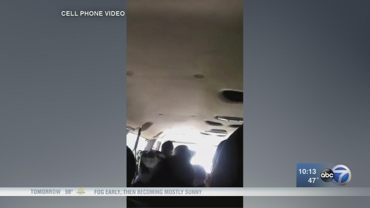 Video shows terrifying rollover crash of van full of students