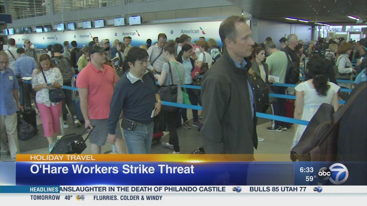OHare workers threaten strike