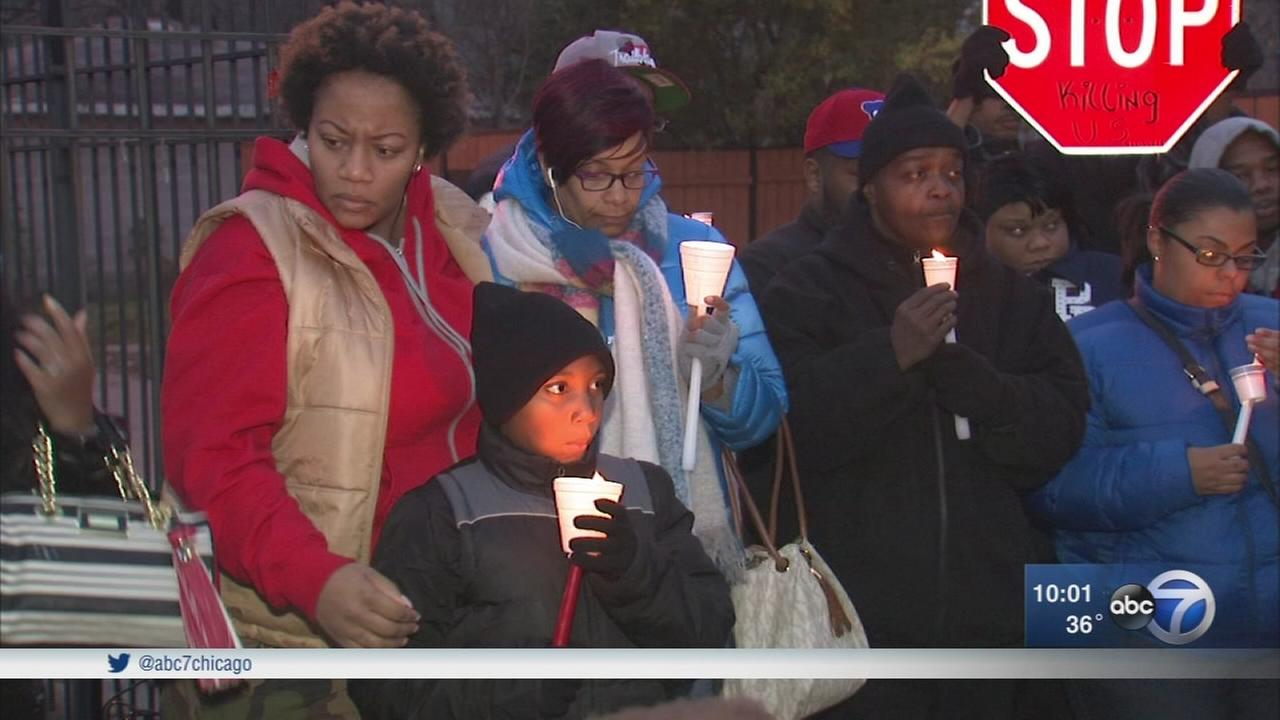 Vigil held for man, 19, fatally shot by police in West Englewood