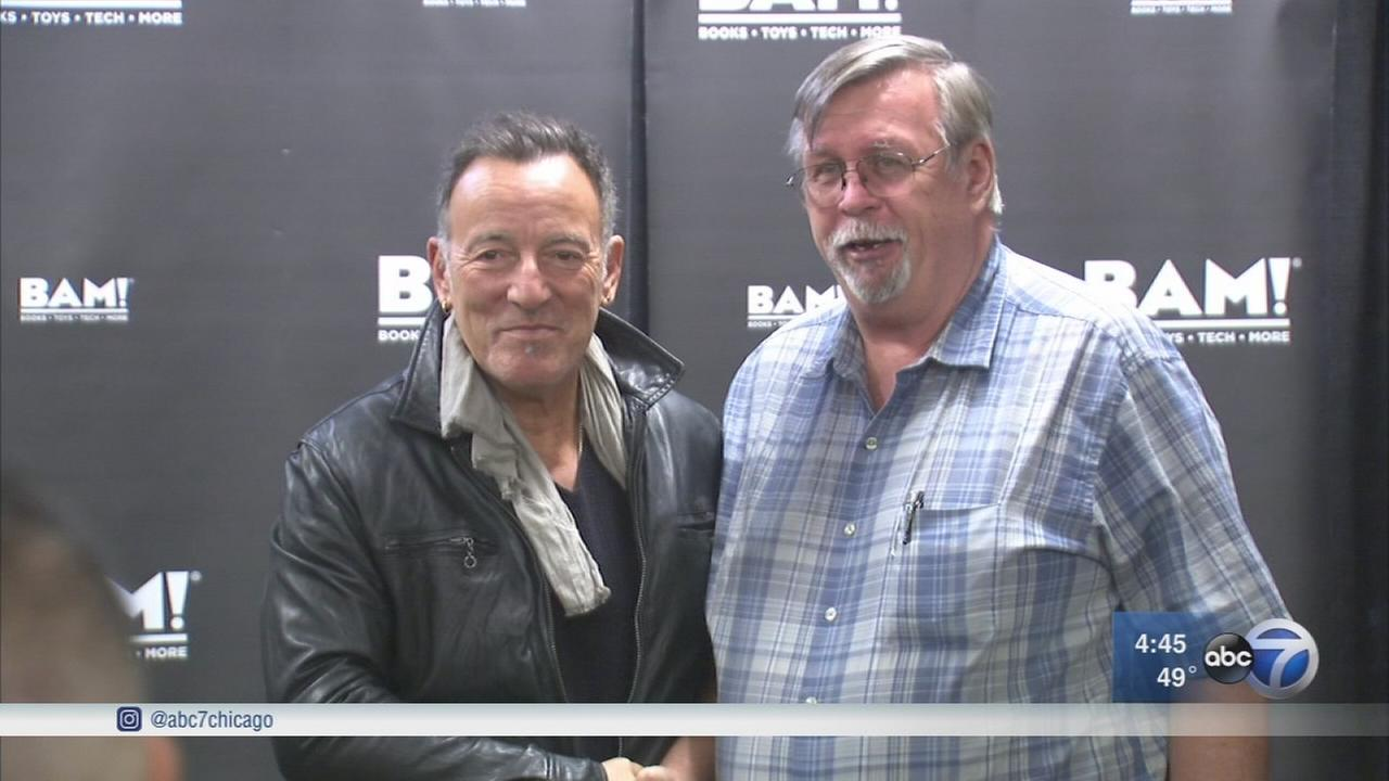 Bruce Springsteen fans line up to get book signed by The Boss