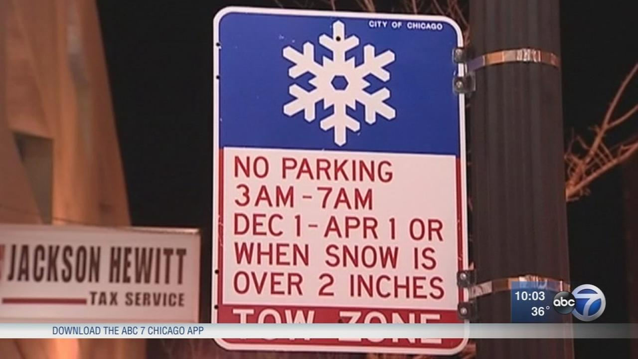 Chicago winter overnight parking ban begins overnight Wednesday
