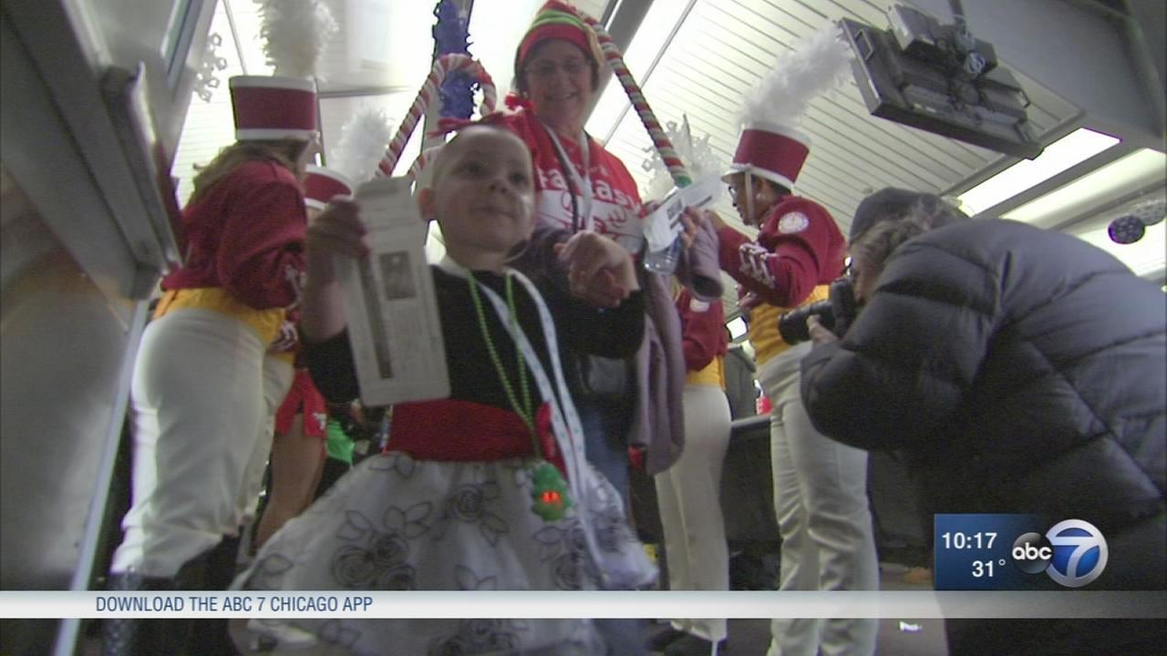 Children battling cancer take fantasy trip to North Pole