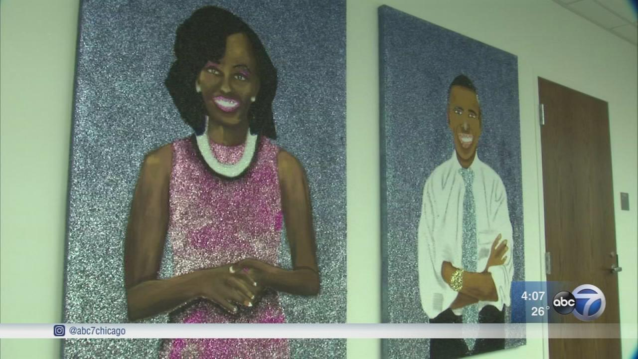 Art from Project Onward decorates Obama Foundation?s walls