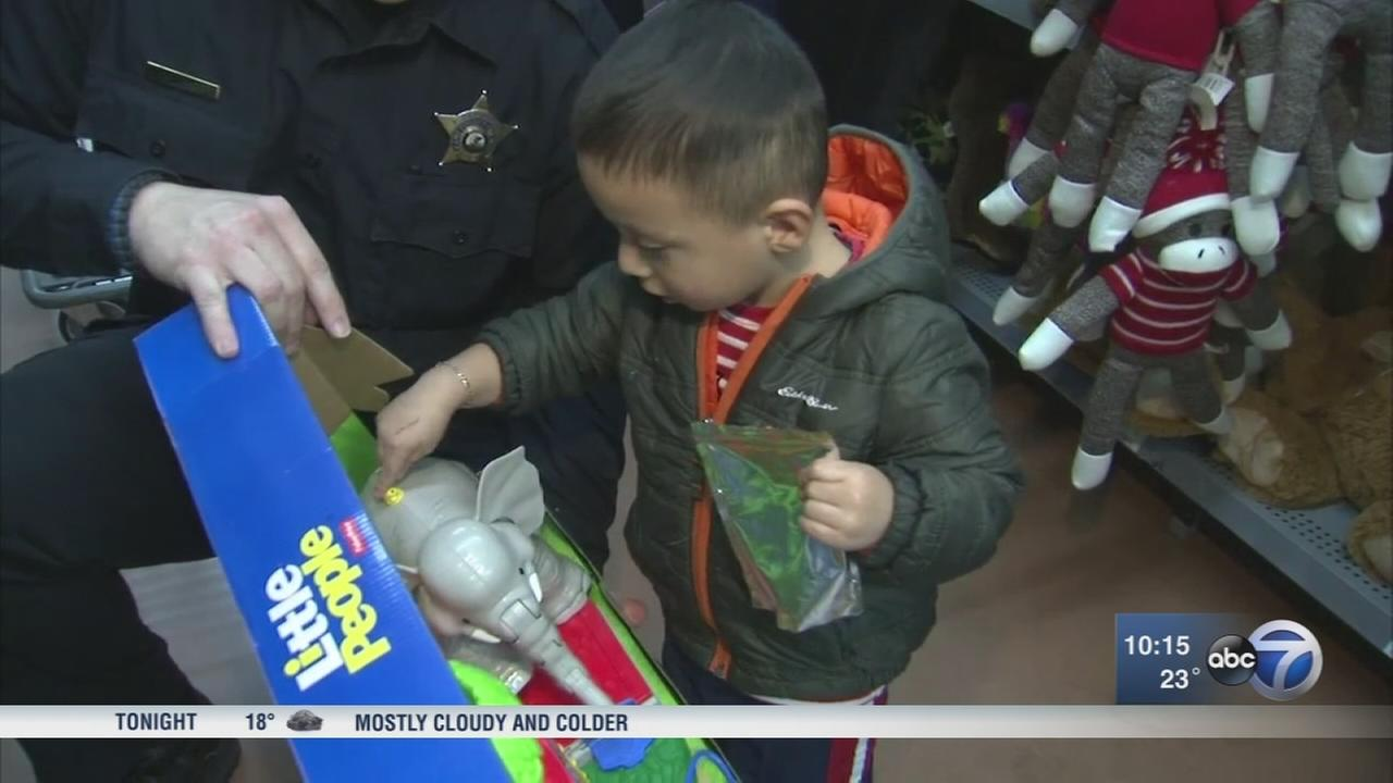Kane Co. Sheriffs union takes children in need holiday shopping